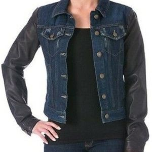 LAUNDRY SHELLI SEGAL  Blue Distressed Denim Jacket